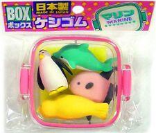 Iwako Marine Life Eraser Set [Pink Case]