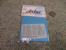 Archer  decals 1/35 35209B US Gauges Interior Stencils black    ZZ57