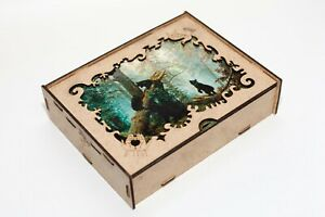 Wooden Jigsaw Puzzle for Adults - Unique Cut Pieces - Morning in a Pine Forest