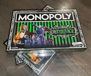 Beetlejuice Monopoly Family Board Game Collectible NEW / FACTORY SEALED