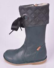 Petasil Girls Kosmo 2 Green Leather Zip Boots UK 9 EU 27 US 9.5 RRP £61.00