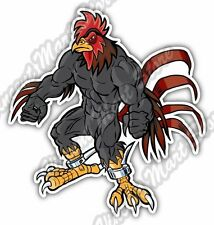 """Angry Muscular Rooster Gamecock Cock Spurs Car Bumper Vinyl Sticker Decal 4""""X5"""""""