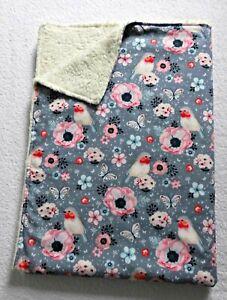 Babydecke ♥ Zweilagige Decke ♥ Kinderwagendecke ♥ ROTKEHLCHEN ♥ handmade