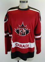 Canada Athletics Canada Hockey Team Jersey Black Red Embroidered Jersey SZ XL
