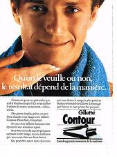 PUBLICITE ADVERTISING  1985   GILLETTE CONTOUR 2