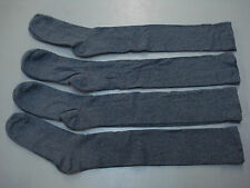 NWOT Women's Over The Knee Cotton Blend Socks Shoe 9-12 Grey 4 Pair  #171A