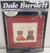 Dale Burdett Pitiful Pals Huggable Lovable Counted Cross Stitch Kit Bears ck314