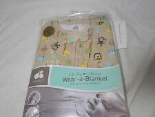 Just Born Cotton Wear-a-Blanket ~ Animals ~ 6-12 Months ~ Medium ~ Taupe//White