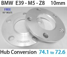 2* 10mm BMW ALLOY WHEEL HUBCENTRIC 72.6 WHEEL 74.1 SPACERS LONGER m12x1.5 BOLTS