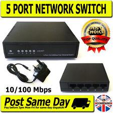 5 Way Port Data Switch 10/100Mbps RJ45 Network Ethernet LAN Xbox Printer Camera
