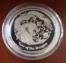 2012P Dragon Proof Half Dollar Australia Perth Mint 50c 1/2oz Silver Lunar II 2