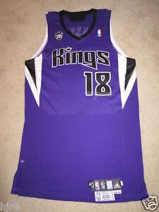 Omri Casspi #18 Sacramento Kings Israel NBA Meigray Game Worn Used Jersey Rookie