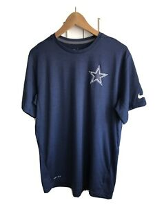 Mens Nike Dri-Fit Dallas Cowboys Blue Training Top, Medium. NFL Onfield Apparel