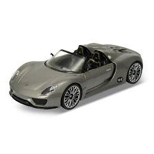 Welly 24031 Porsche 918 Spyder gris métallique échelle 1:24 Maquette de voiture