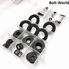 100Pc BLACK RUBBER FORM A NEOPRENE WASHERS M2 M3 M4 M5 M6 M8 M10 M12 M14 M16 M20