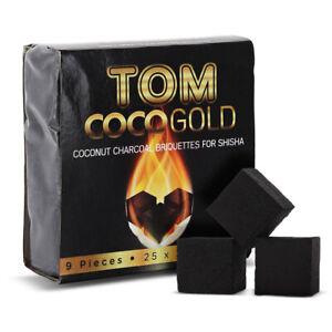 Charbon Naturel à chicha Tom Cococha GOLD Mini Cube - Narguilé, Shisha