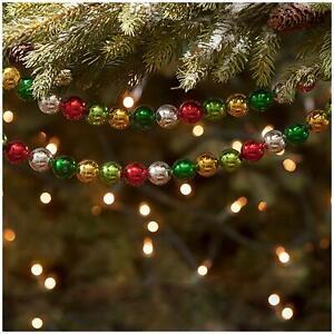 Bethany Lowe 7' Jolly Bead Classic Christmas Tree Wrap Garland Retro Vntg Decor