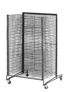 Sax Mobile Drying and Storage Rack, 26 x 25 x 40 Inches