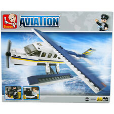 SLUBAN Bausteine Aviation Wasserflugzeug 214 Teile NEU B0361