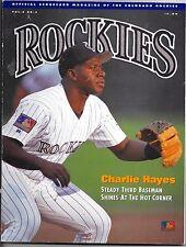 1994 Official Scorecard Magazine of The Colorado Rockies Vol 2 No 5.