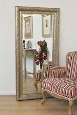 Bevelled Elegant Hand Made Large Silver Ornate Mirror 5ft10 X 2ft10 177cm X 86cm