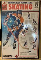 1979-80 Shoppers Drug Mart Wayne Gretzky Poster Edmonton Oilers Rookie Year Rare
