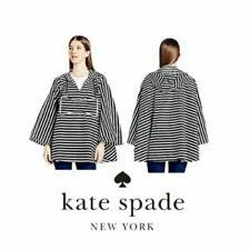 NEW Kate Spade Rio de Janeiro Rain Poncho OS Hooded Packable Nylon Pocket NWT