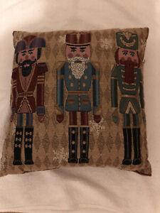 Nutcracker Tapestry Pillow Christmas