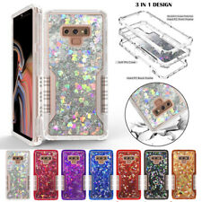 For Samsung Note 8 9 S8 S9 Plus Armor Glitter Liquid Defender Hard Case Cover US