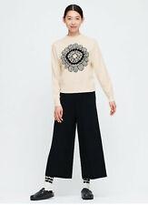 NWT | Uniqlo / Marimekko | Women Wool+Cashmere Flower Sweater Ivory | MEDIUM