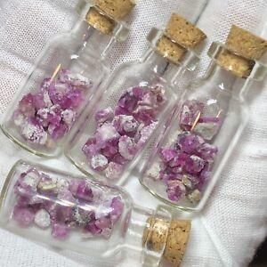 RARE Red Beryl Crystals inside of Jar