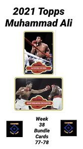 2021 TOPPS MUHAMMAD ALI - CARD #77 AND #78 - 2 CARD BUNDLE