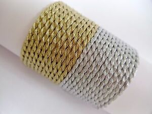 2mm Metallic Twisted Cord Braid Braided Rope Gold & Silver Soutache Jewellery