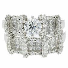 Certified 2.10 CT SI2 18K Gold Diamond Bridal Set