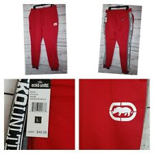 Ecko Unlimited Red Embroidered Jogger Sweatpants Large