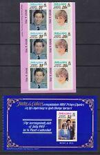 1981 Royal Wedding Charles & Diana MNH Stamp Booklet Panes Turks & Caicos
