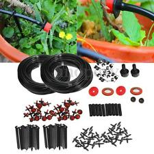 46m Micro Drip Irrigation Auto Self Plant Watering System Drippers Garden Hose