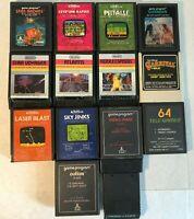 Lot of 14 Atari 2600 Games Cartridges Star Raiders Keystone Kapers Pitfall