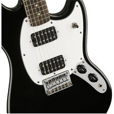 Squier Bullet Mustang Electric Guitar, HH, Rosewood Fingerboard - Black +Cable