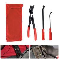 3X Car Door Panel Trim Rivets Clips Pliers & Fastener Remover Puller Tool Kit
