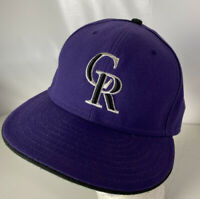 Colorado Rockies Hat Cap 59FIFTY Authentic Onfield MLB Purple Sz 7 5/8 Logo