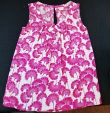 Florence Broadhurst X Kate Spade Womens Sz 0 Pink Floral Print Silk Blouse EUC