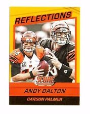 Andy Dalton, Carson Palmer 2016 Score, Reflections, (Gold), Football Card !!