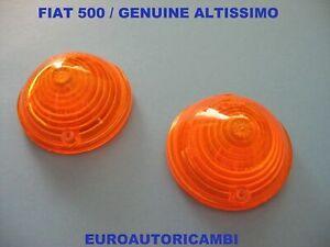 FIAT 500 ABARTH FRONT BLINKER TURN PARK LENSES LIGHTS AMBER x 2