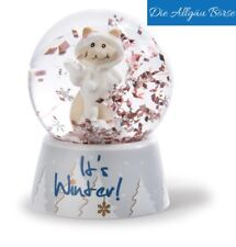 Nici Schüttelkugel Schneekatze Mädchen Winter 6,5x5 cm Schneekugel Neu