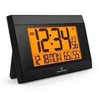 Marathon CL030052BK Atomic Wall Clock Black