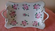 """19th Century, Collectable and Beautiful """"SWANSEA"""" Porcelain Twig Handled Dish"""