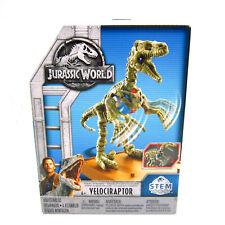 """Mattel Jurassic World Fossil Strikers S.T.E.M. 3D Dinosaur 8"""" Model Velociraptor"""