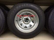 "15"" 5 Lug GALV SPK Trailer Rim LoadStar Bias Tire Wheel Assembly 205/75D15 C ply"