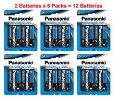12x Panasonic Size D Batteries 1.5V Heavy Duty D2 x 6